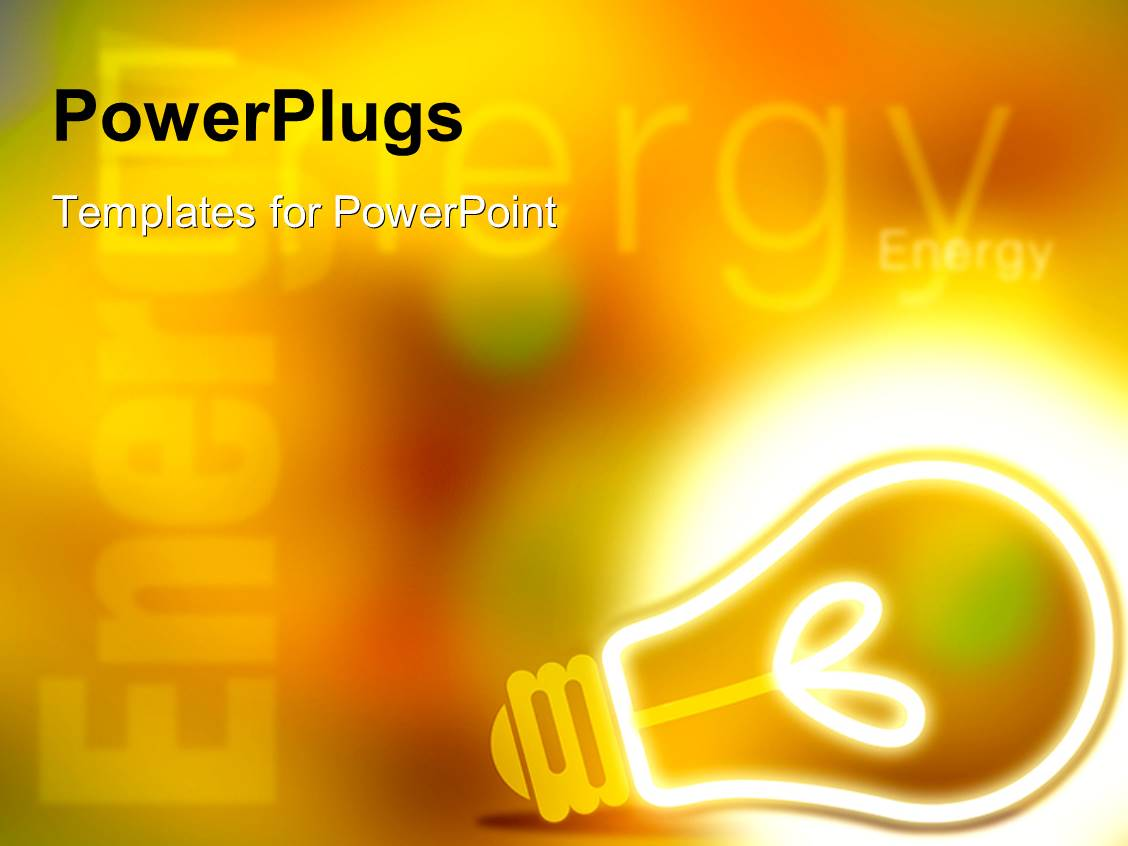 5000 energy powerpoint templates w energy themed backgrounds amazing slides consisting of a glowing bulb with yellowish background toneelgroepblik Gallery