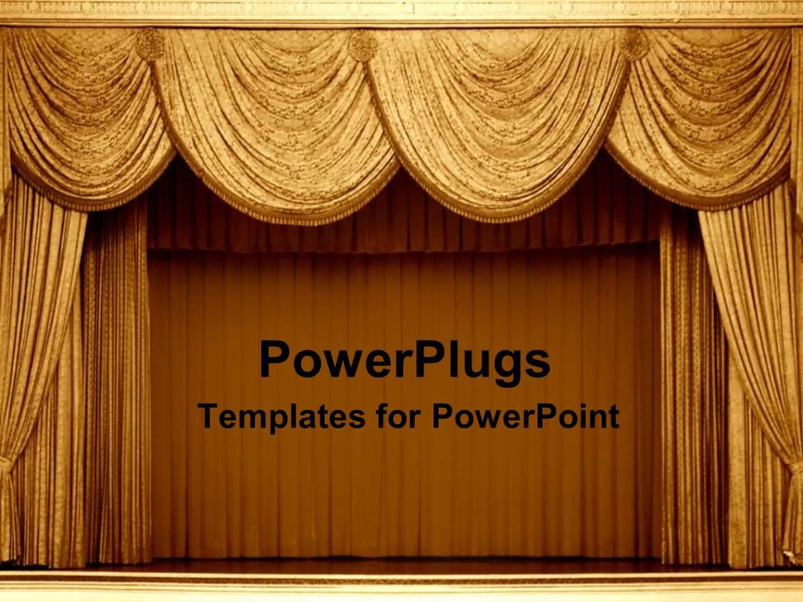 Download 55 Background Power Point Gold Gratis