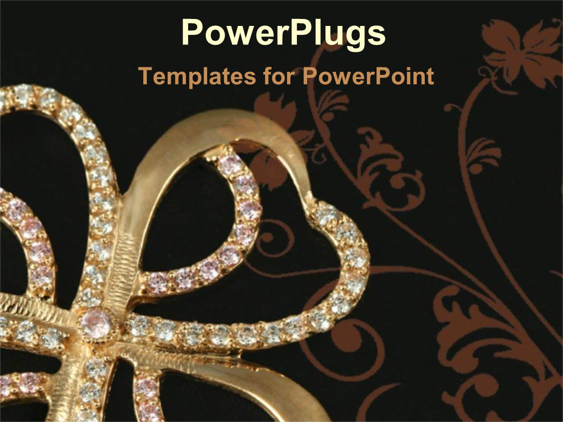 5000 jewellery powerpoint templates w jewellery themed backgrounds slide deck with gold and diamond four leaf clover template size slide toneelgroepblik Image collections