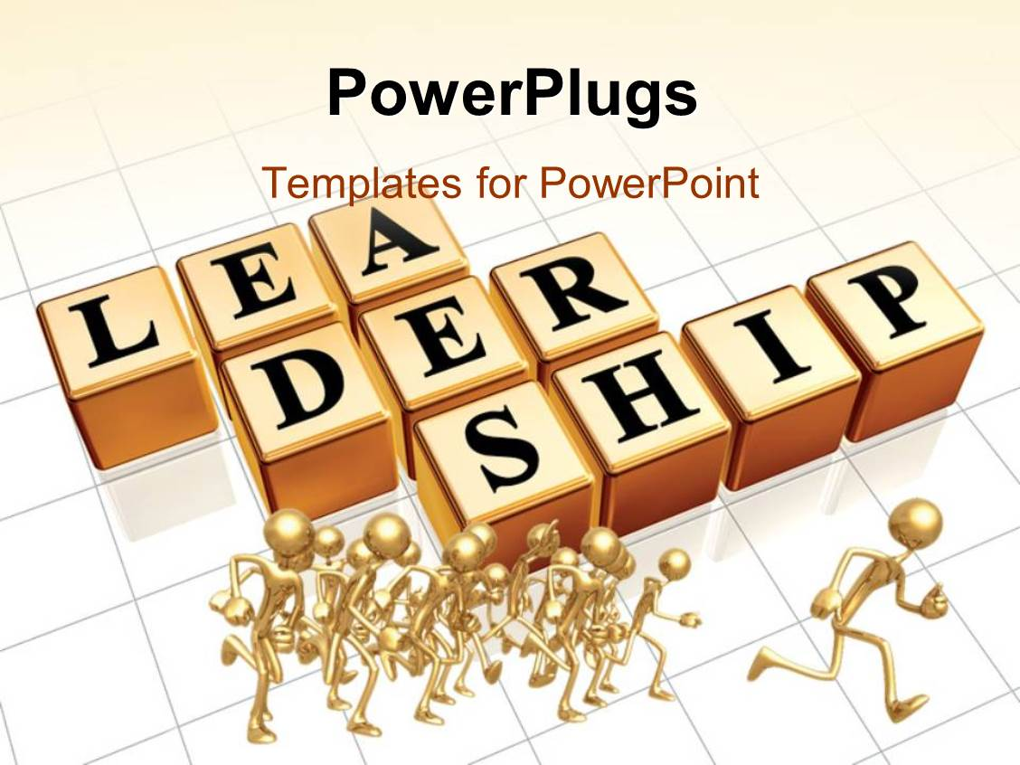 Top leadership powerpoint templates backgrounds slides and ppt presentation enhanced with gold plated 3d people running with cubes depicting leadership template size alramifo Images