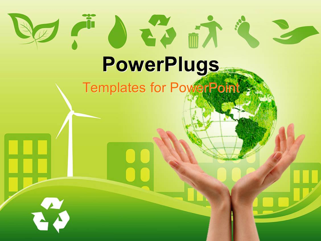 Green building powerpoint templates crystalgraphics audience pleasing presentation theme featuring green environmentally conscious city view with clam energy source and recycle template size toneelgroepblik Choice Image