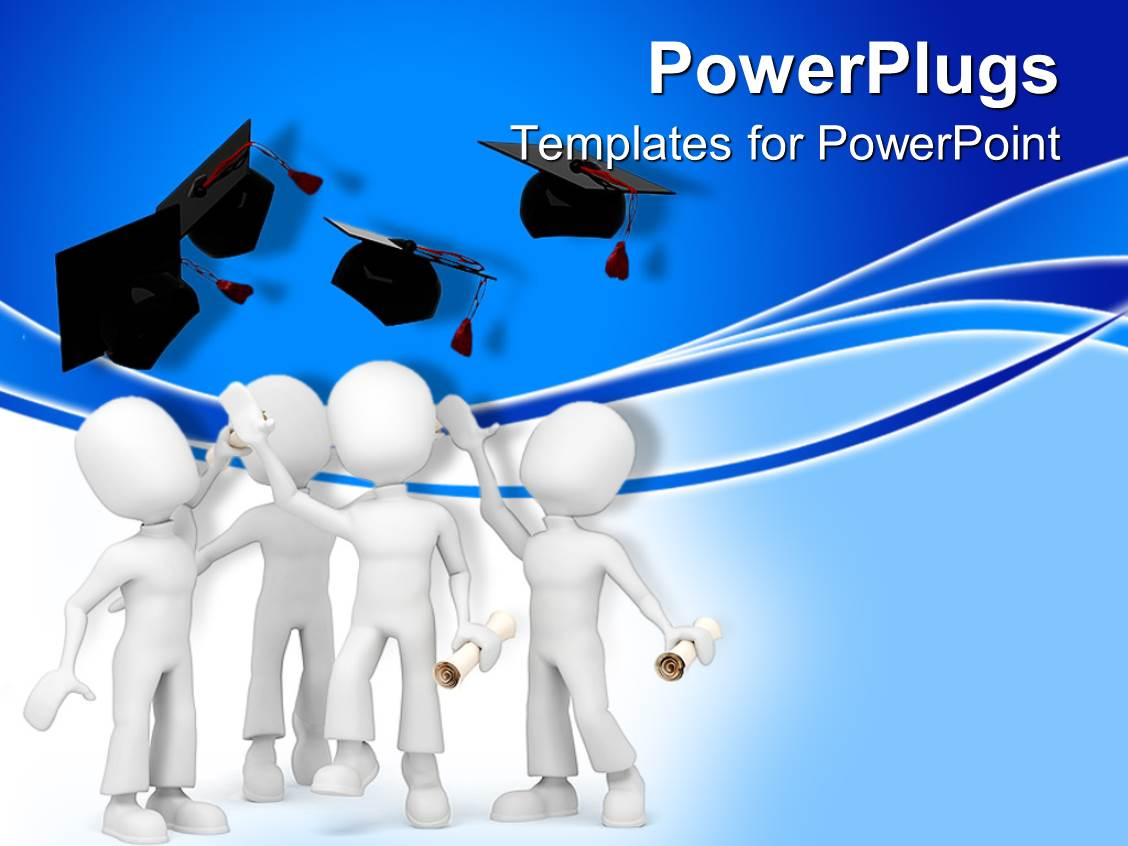 College powerpoint templates ppt themes with college backgrounds colorful theme having a group of figures celebrating their graduation ceremony together template size toneelgroepblik Gallery