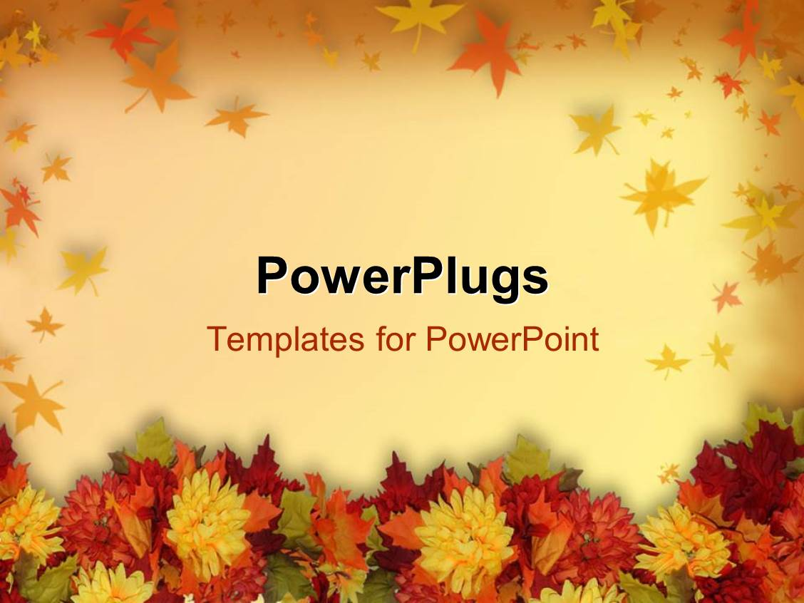 Powerpoint template halloween and thanksgiving theme with powerpoint template displaying halloween and thanksgiving theme with colorful flowers alramifo Choice Image