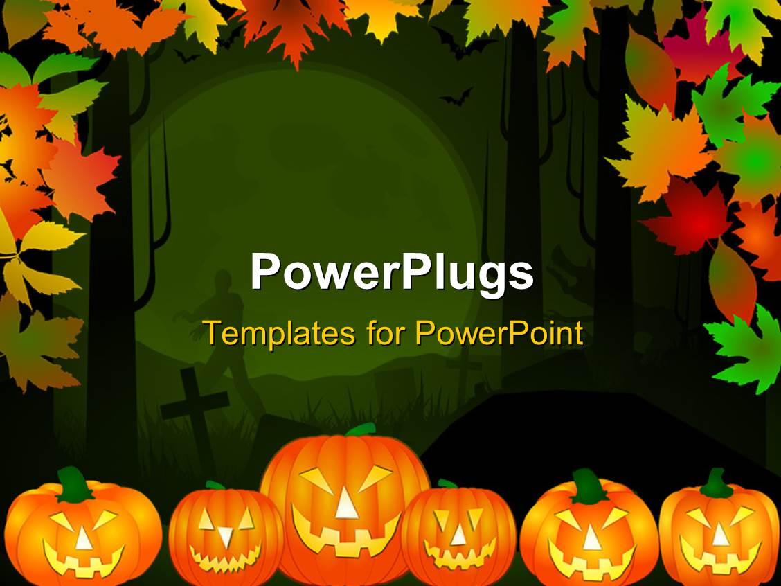 Powerpoint template halloween theme background in multiple color powerpoint template displaying halloween theme background in multiple color leaves and pumpkins alramifo Choice Image