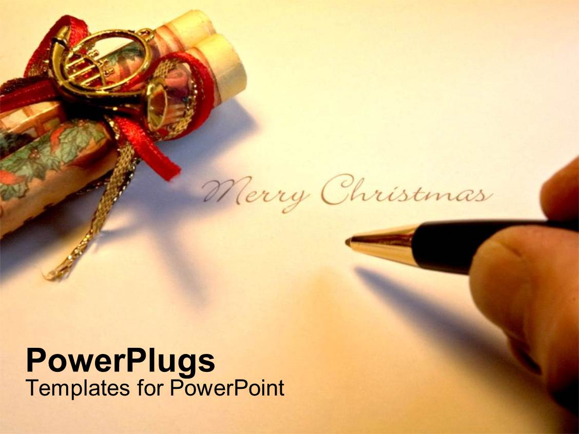 5000 writing powerpoint templates w writing themed backgrounds beautiful theme with hand holding pen writing merry christmas template size toneelgroepblik Images
