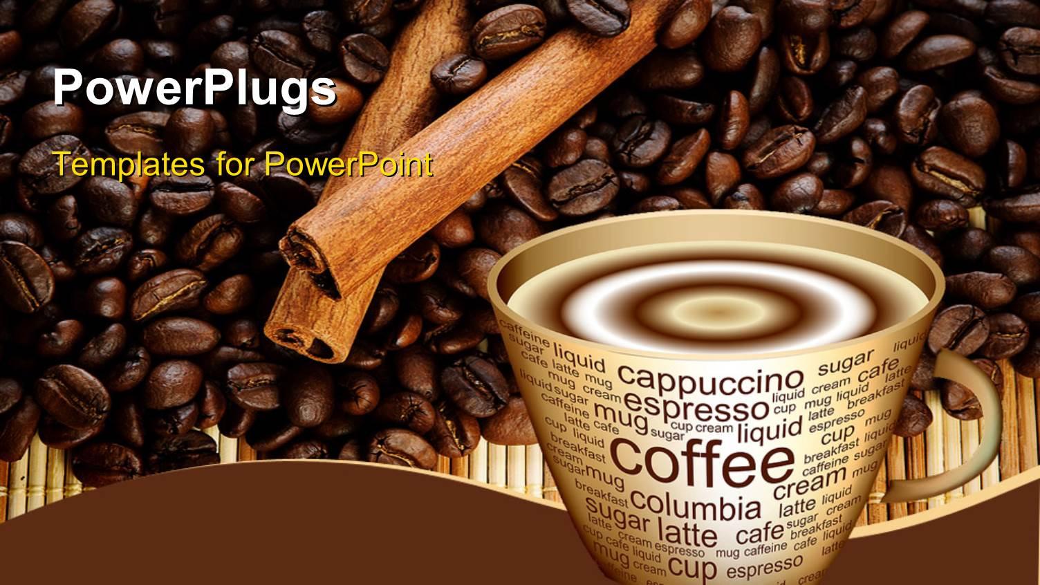 coffee powerpoint template - coffee drinker, Coffee Presentation Template, Presentation templates