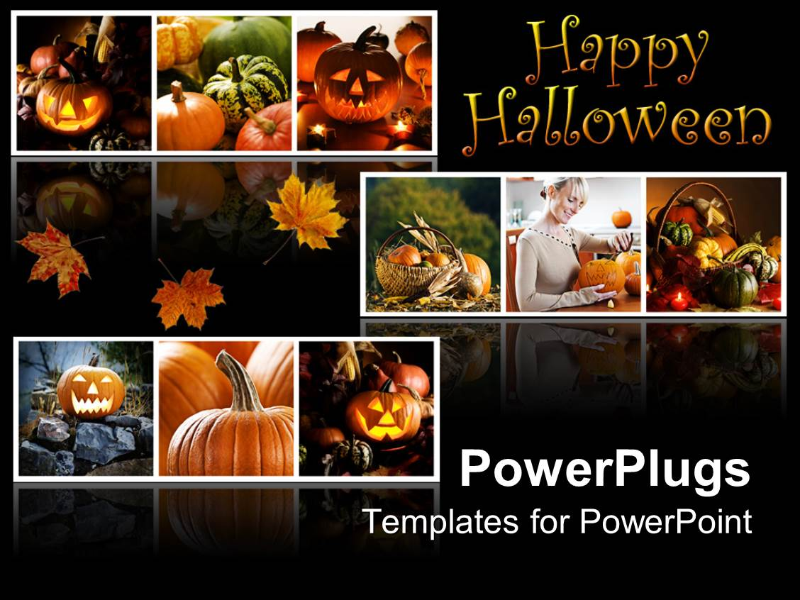 Powerpoint template happy halloween collage with jack o lantern powerpoint template displaying happy halloween collage with jack o lantern pumpkins gourds fall alramifo Choice Image