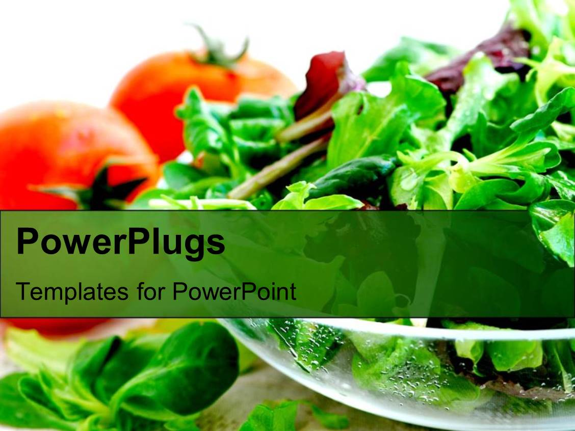 Powerpoint template health salads vegetables tomatoes and lettuce powerpoint template displaying health salads vegetables tomatoes and lettuce and greens toneelgroepblik Choice Image