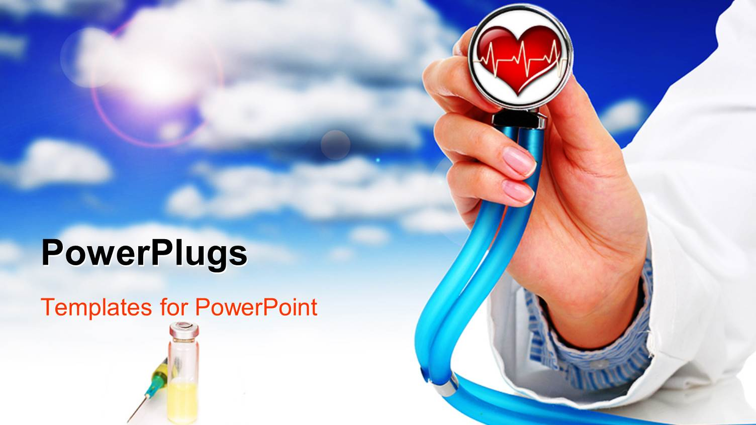 5000 health powerpoint templates w health themed backgrounds amazing slides consisting of heart health cardiology with stethoscope in doctors hand syringe blue template size toneelgroepblik Gallery