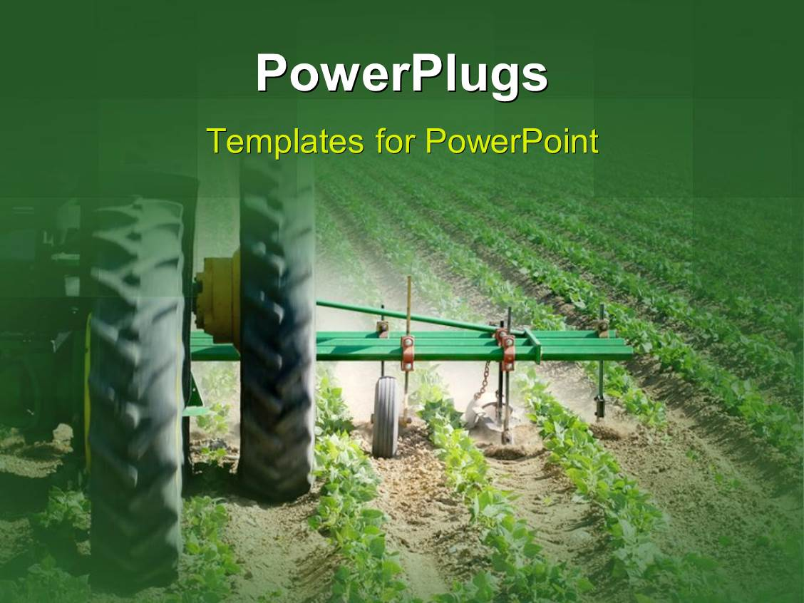 Agriculture powerpoint templates ppt themes with agriculture beautiful slide set with heavy agricultural machinery working on farmland with green crops planted template size toneelgroepblik Gallery