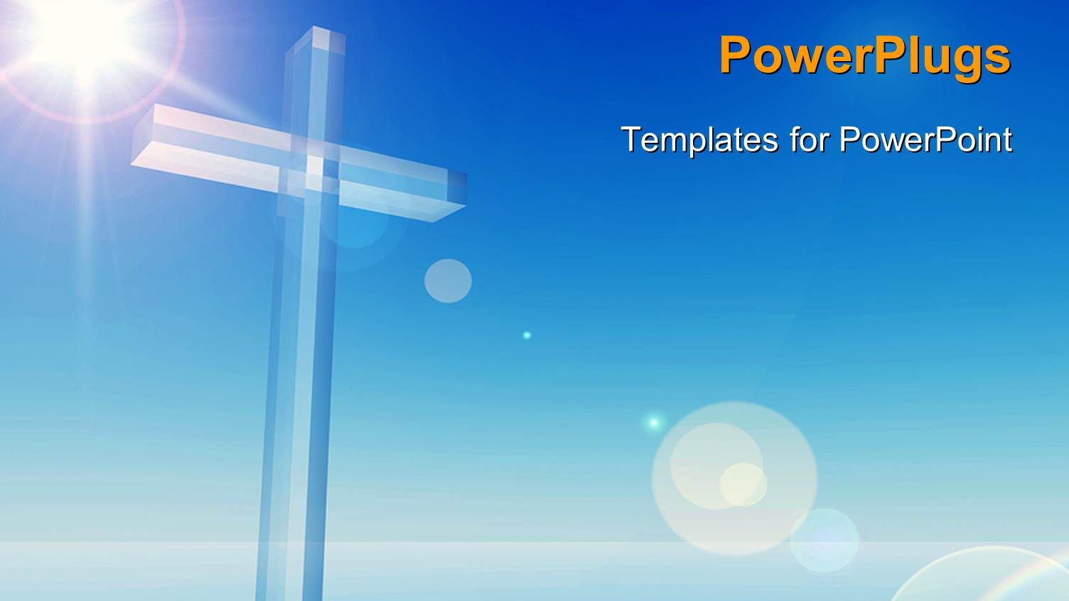 Presentation Design Enhanced With A Bluish Background With A Cross ...