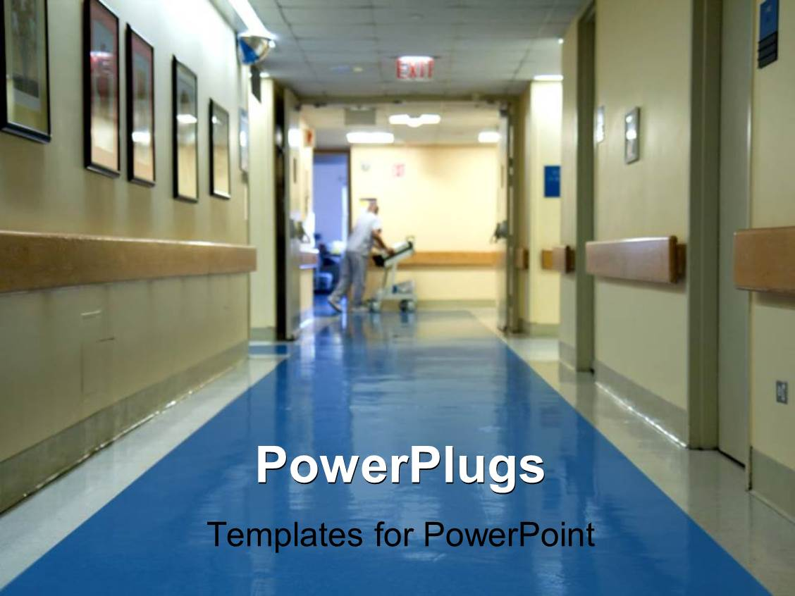 5000 hospital powerpoint templates w hospital themed backgrounds amazing ppt theme consisting of hospital corridor with a blurred figure of a nurse moving hospital toneelgroepblik Image collections