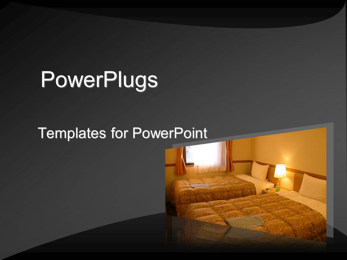Powerpoint template tropical hotel restaurant evening background beautiful ppt layouts with hotel room in subdued colors with sun shining through window toneelgroepblik Choice Image