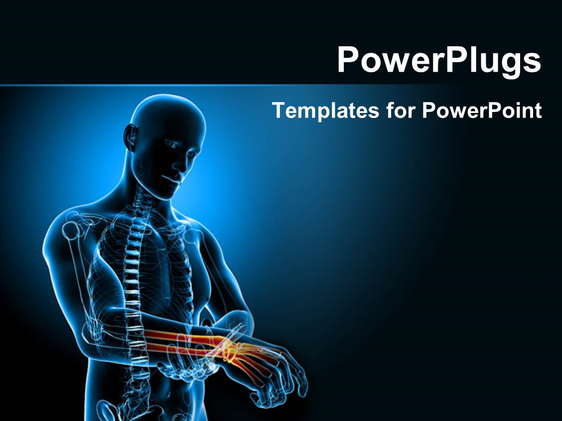 Powerpoint template human anatomy depicting pain in wrist 15385 powerpoint template displaying human anatomy depicting pain in wrist alramifo Choice Image