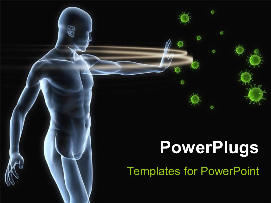Immunology powerpoint templates ppt themes with immunology slide set enhanced with human antomy blocking viruses toneelgroepblik Image collections