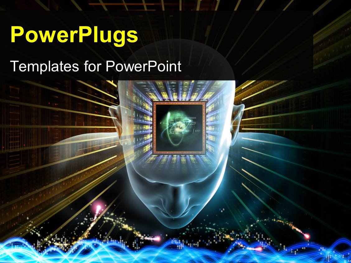 5000 artificial intelligence powerpoint templates w artificial slide set consisting of human head scientific formulas and various abstract elements on the subject of toneelgroepblik Gallery