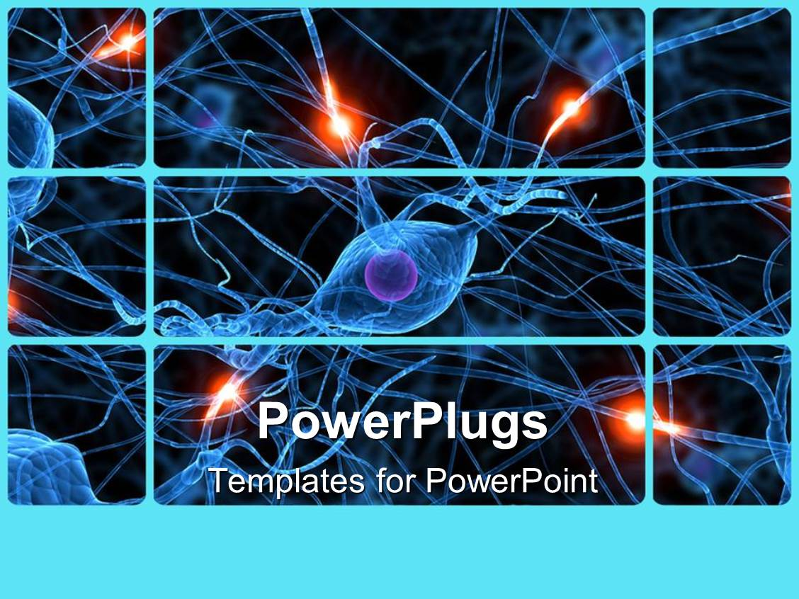 5000 nerve powerpoint templates w nerve themed backgrounds presentation theme consisting of human nerve cells showing passive ones and active ones glowing toneelgroepblik