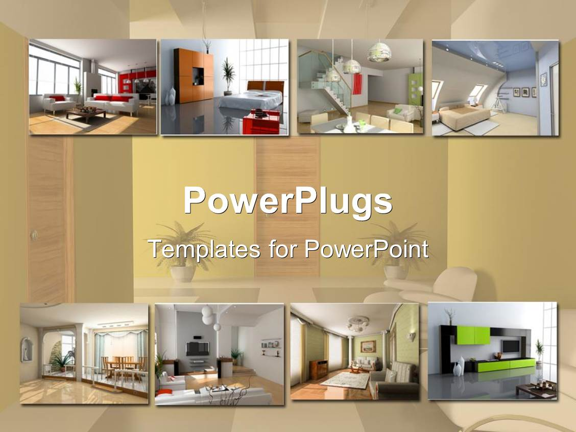 Powerpoint template interior design apartment modules for Home design templates