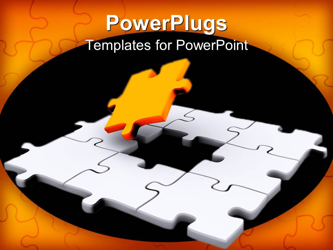 Powerpoint template a jigsaw puzzle missing a piece 18431 powerpoint template displaying a jigsaw puzzle missing a piece toneelgroepblik Image collections