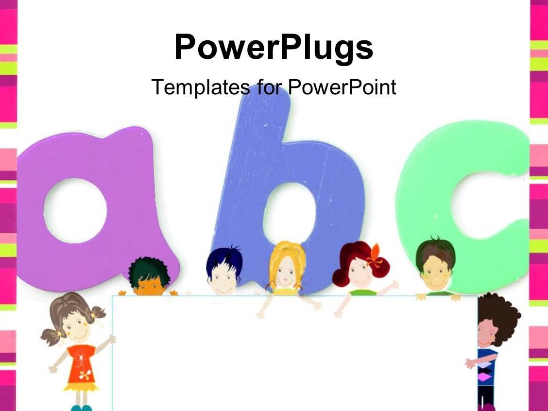 Powerpoint template kids education 255 powerpoint template displaying kids education alramifo Images