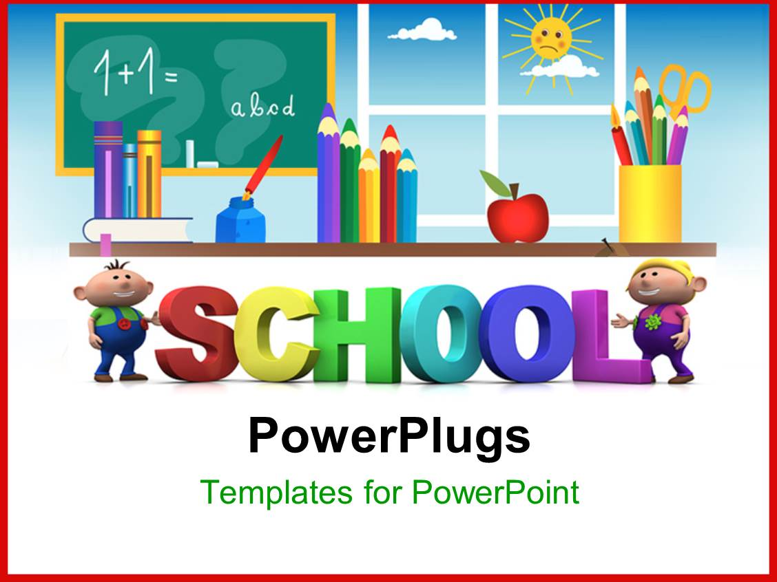 Top school powerpoint templates backgrounds slides and ppt themes beautiful ppt layouts with kids education with 3d letters depicting class room learning template size alramifo Image collections
