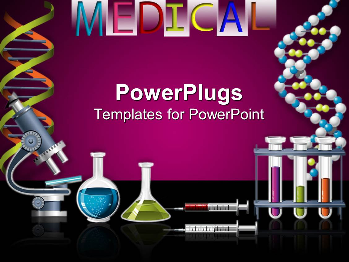 5000 science powerpoint templates w science themed backgrounds slide deck having lab equipment with microscope vials filled with liquids syringes toneelgroepblik Choice Image