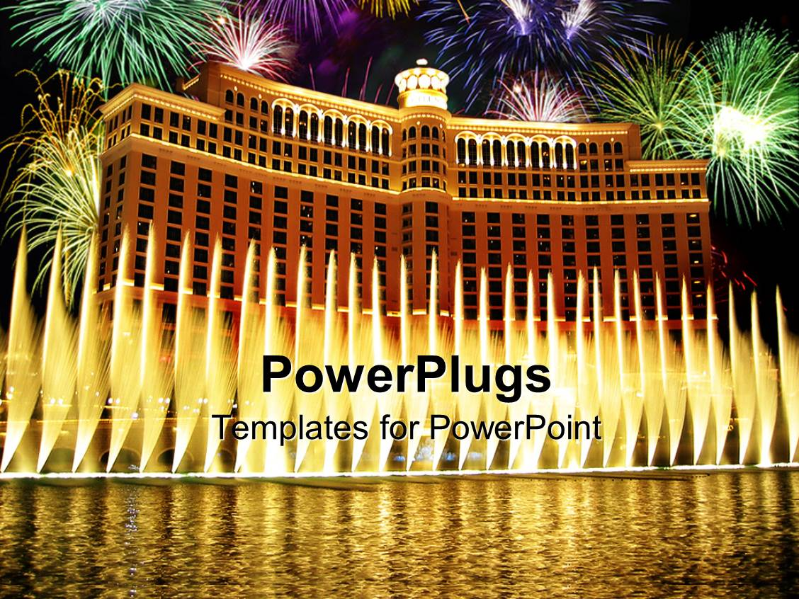 5000 hotel powerpoint templates w hotel themed backgrounds colorful presentation theme having large building like palace with fireworks and water fountains near the toneelgroepblik Gallery