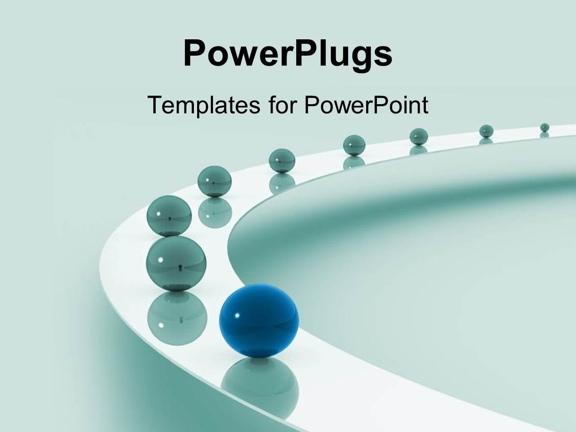 Powerpoint template leadership as a metaphor with marbles for Power plugs powerpoint templates