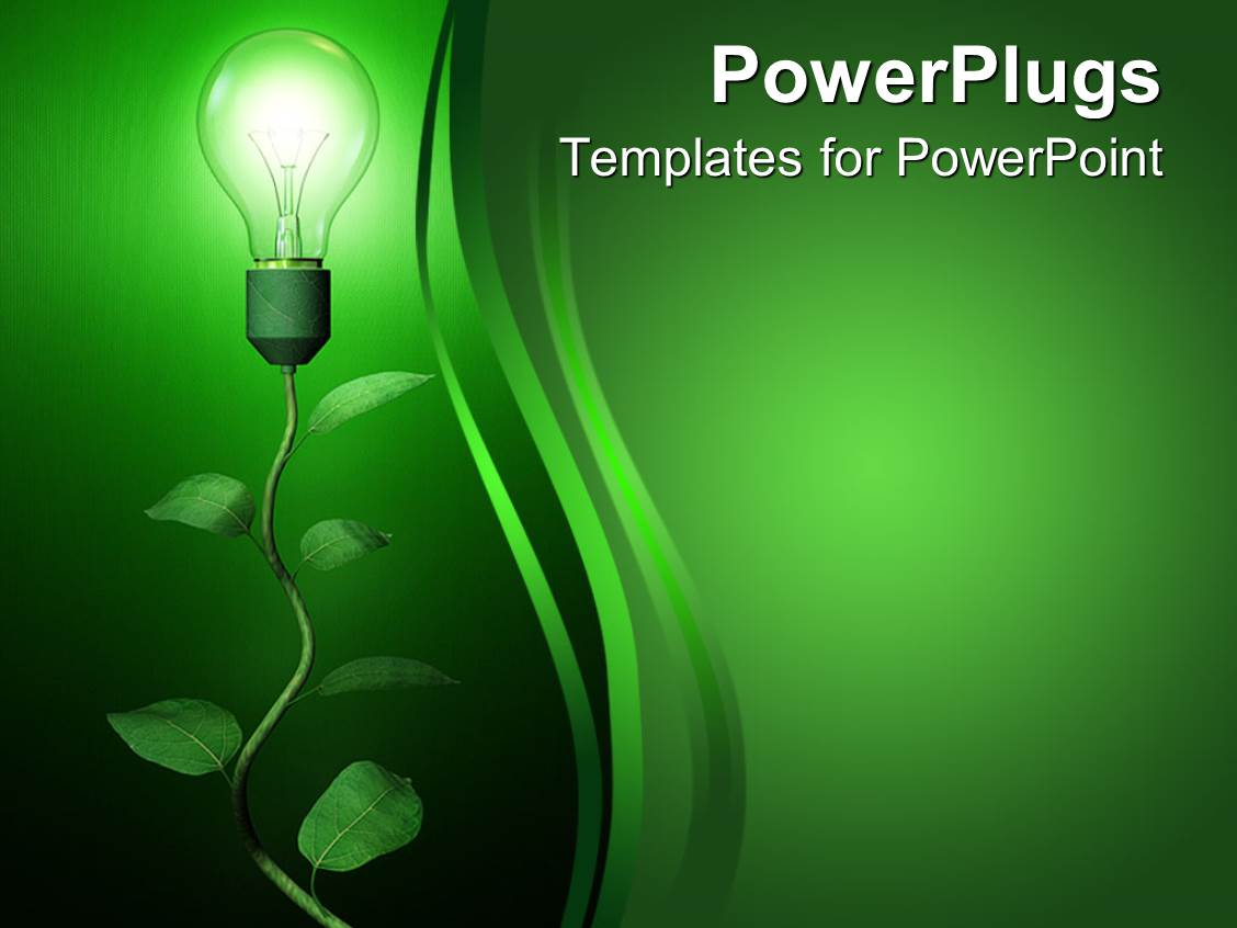 Renewable energy powerpoint templates crystalgraphics beautiful presentation with light blub growing on branch on green background renewable energy template size toneelgroepblik Image collections