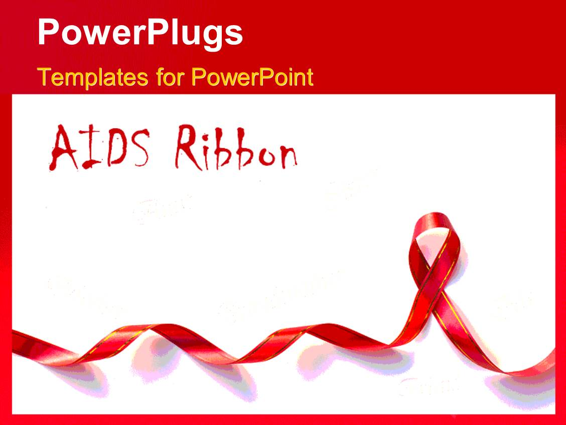 5000 charity powerpoint templates w charity themed backgrounds presentation theme with a long red ribbon and a text that spell out the words toneelgroepblik Gallery