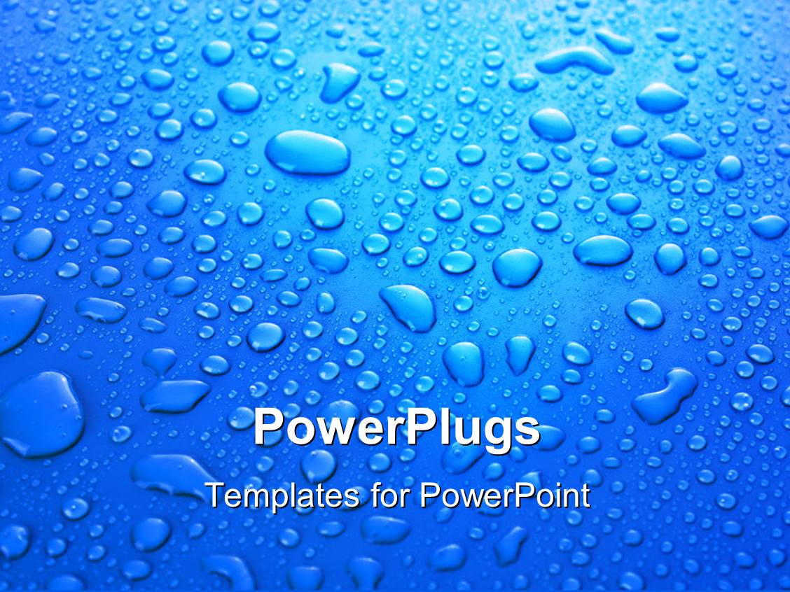 Powerpoint template a lot of water droplets with bluish powerpoint template displaying a lot of water droplets with bluish background alramifo Choice Image