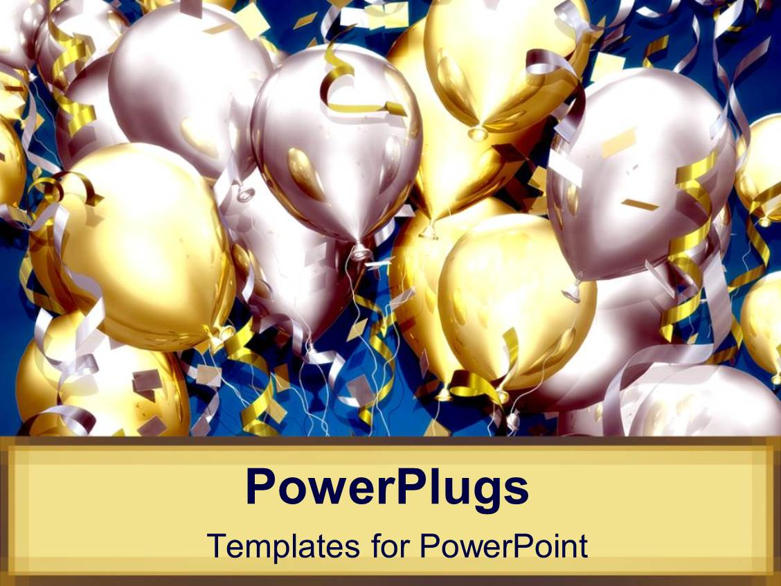 5000 celebration powerpoint templates w celebration themed backgrounds audience pleasing presentation design featuring lots of balloons and confetti for celebration party on tan background template size audience pleasing toneelgroepblik Choice Image