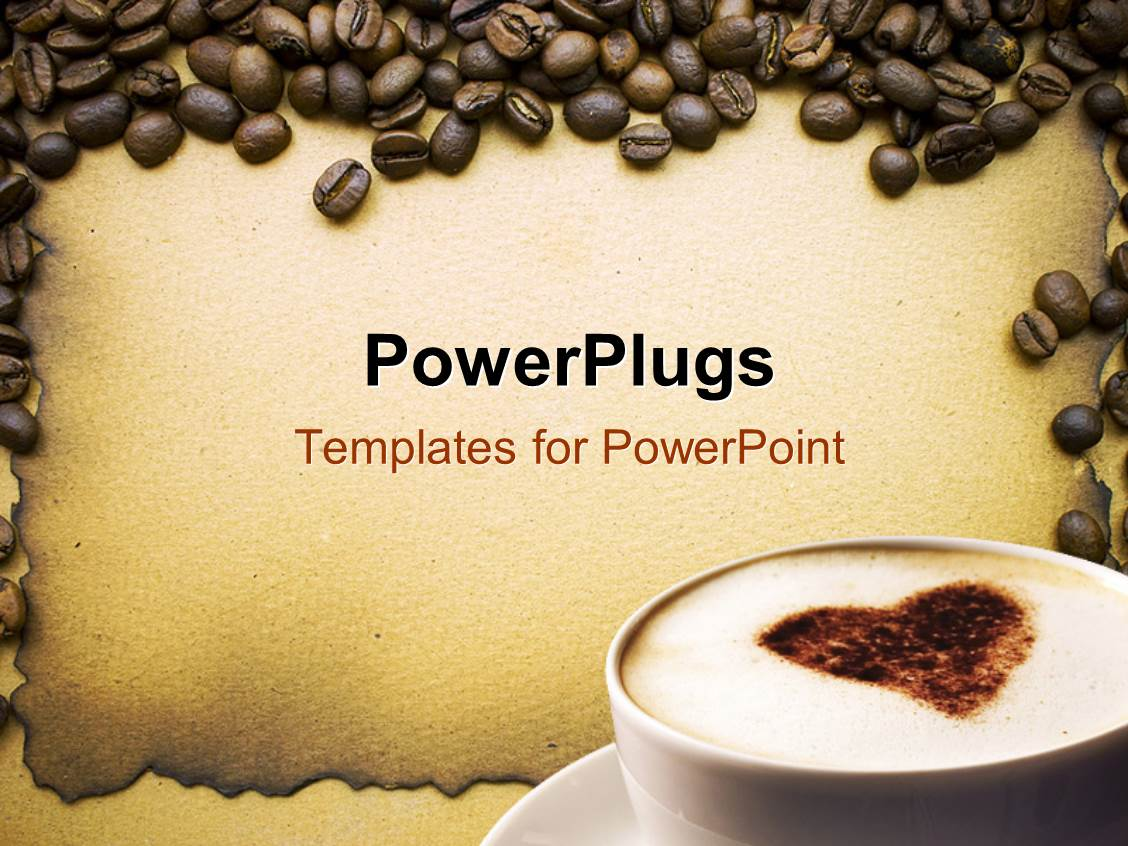 Powerpoint template lots of coffee beans around a white coffee powerpoint template displaying lots of coffee beans around a white coffee cup toneelgroepblik Images