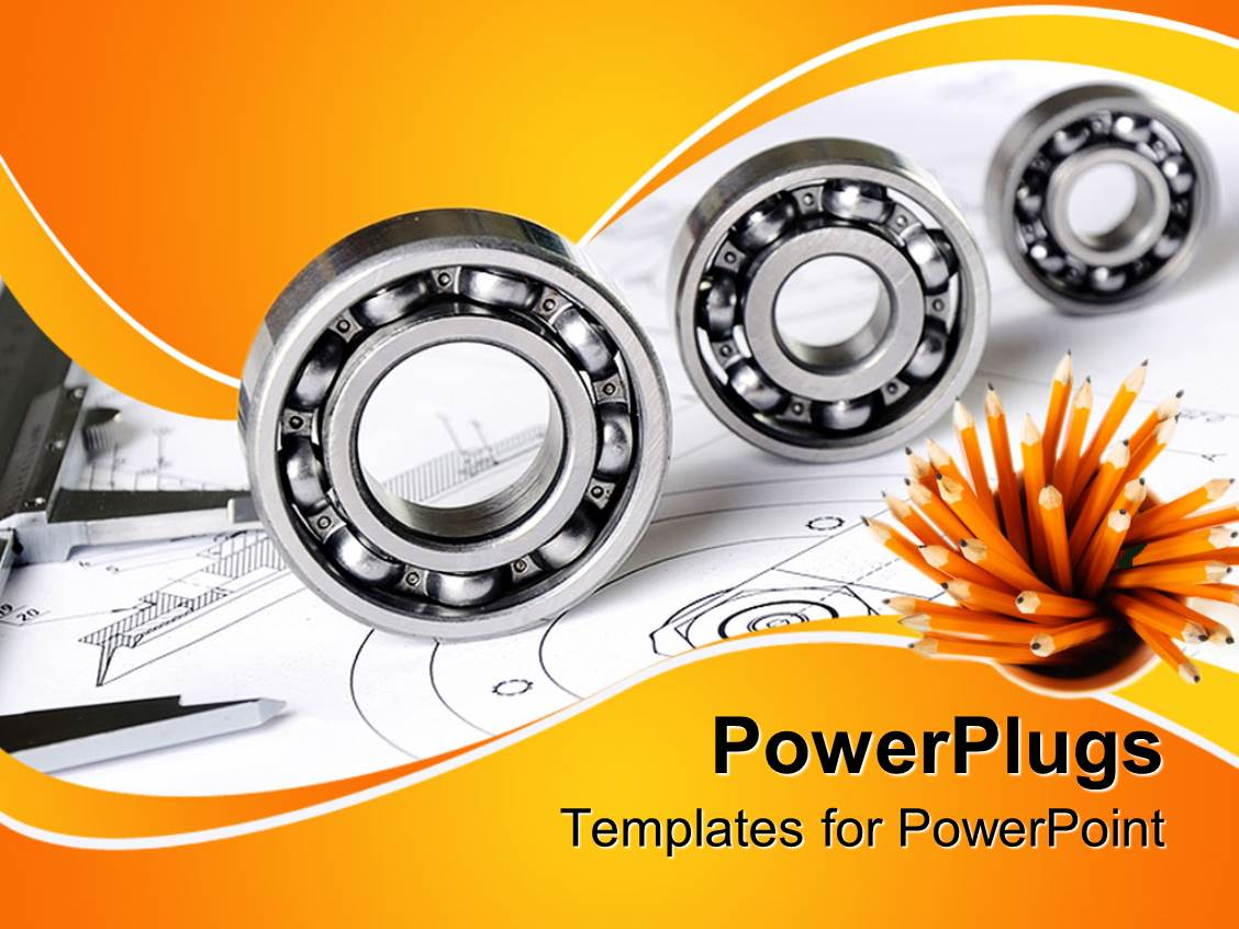 5000 mechanical engineering powerpoint templates w mechanical presentation theme having mechanical engineering theme with three different sized bearings measuring tool and pencils template size toneelgroepblik Images