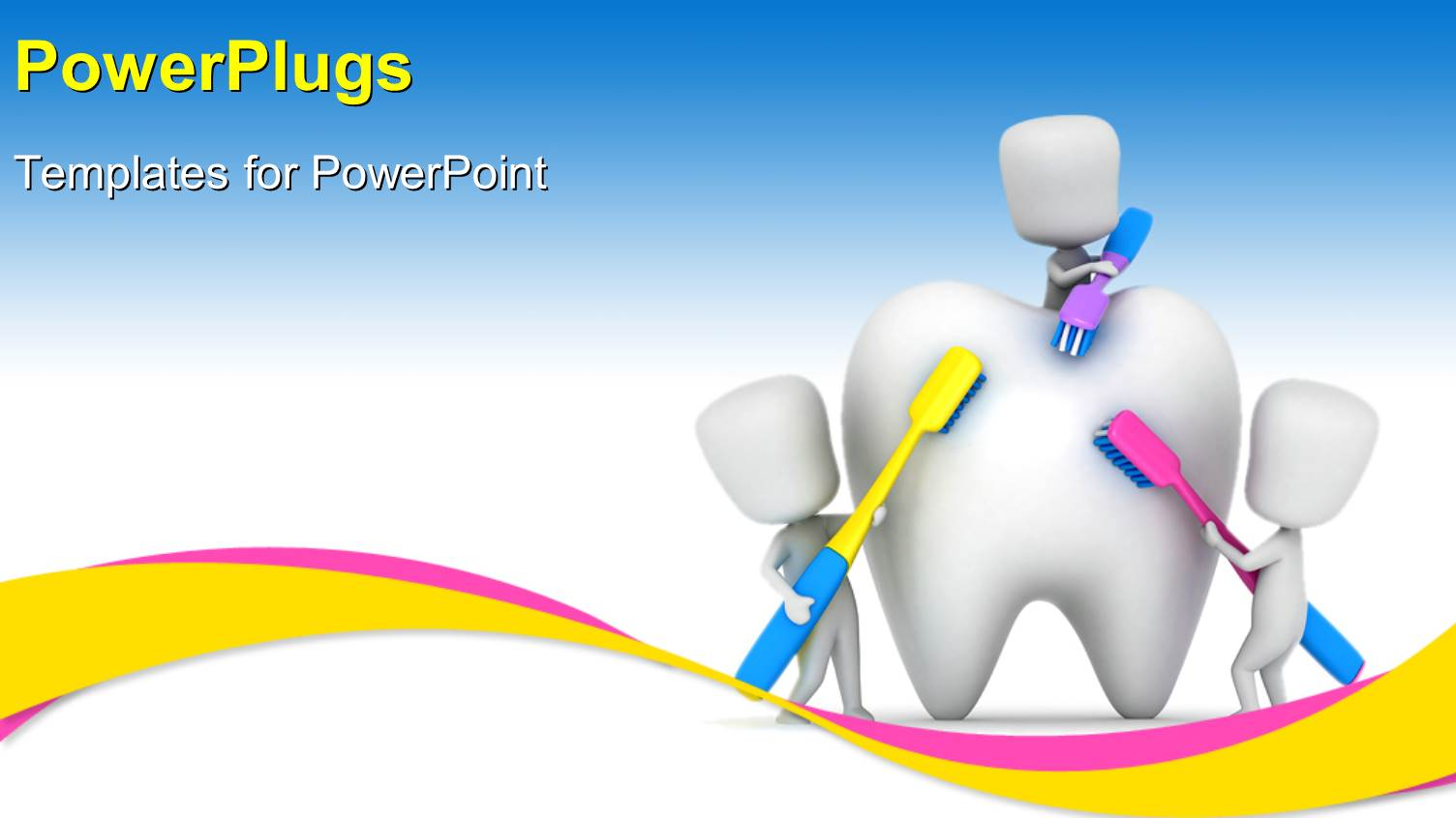 Powerpoint template medical depiction with kids brushing a tooth powerpoint template displaying medical depiction with kids brushing a tooth with multi color toothbrushes alramifo Images
