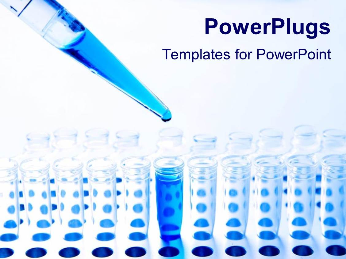 Powerpoint template medical science collage depicting research and ppt theme consisting of medical science pipette and test tubes and blue fluid chemistry toneelgroepblik Images