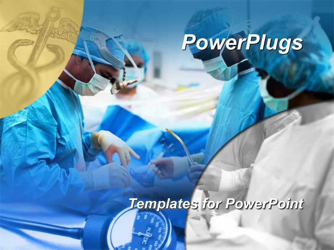 5000 surgery powerpoint templates w surgery themed backgrounds slides consisting of medical surgical team performing surgery operation hospital caduceus medical symbol template size toneelgroepblik Images