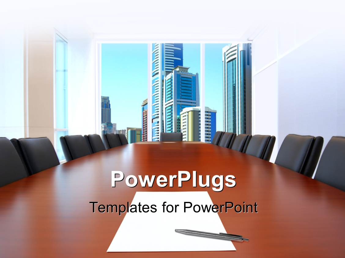 Powerpoint template a number of people in a meeting 1411 amazing presentation theme consisting of meeting room in front focus sheet of paper and pen toneelgroepblik Choice Image