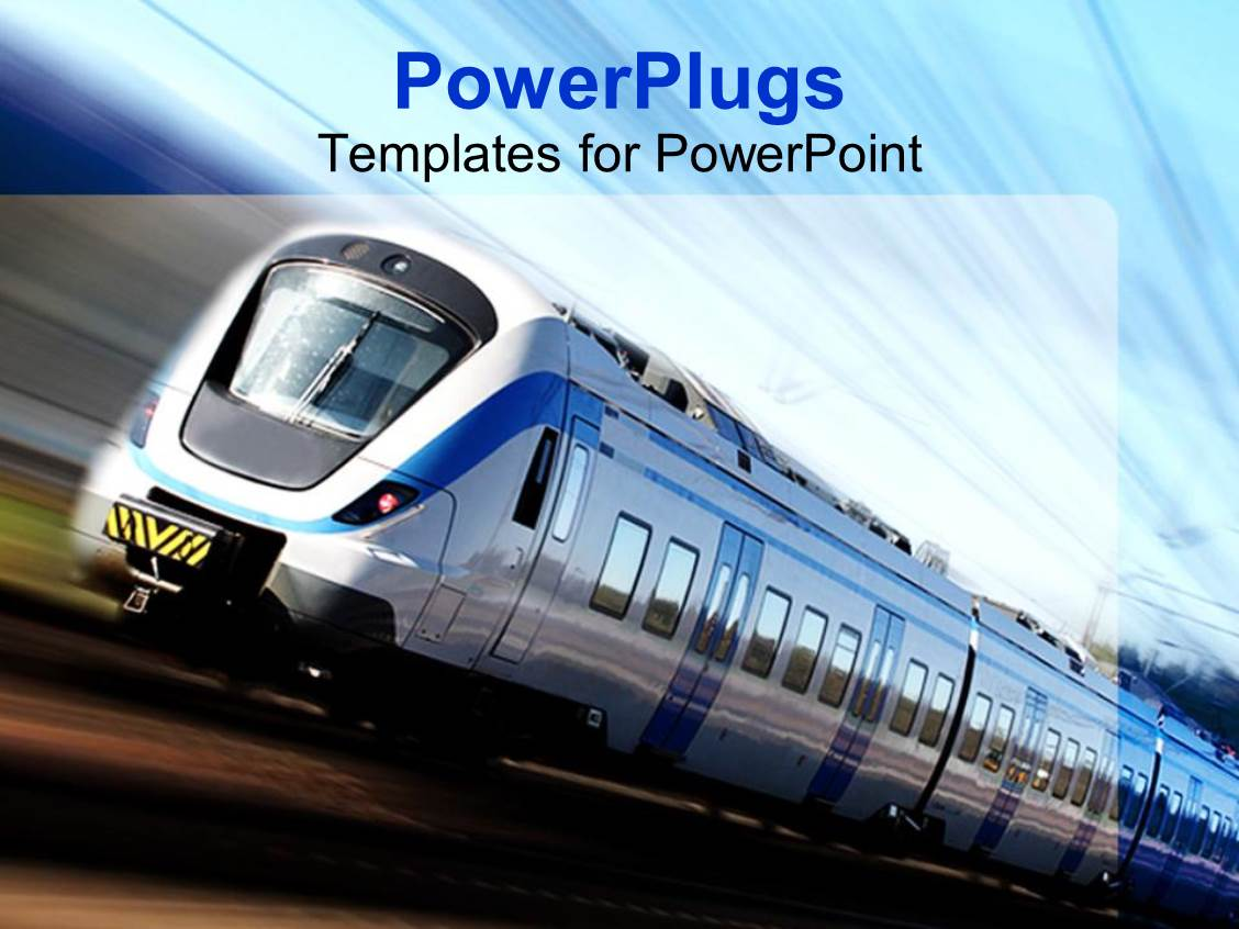 5000 train powerpoint templates w train themed backgrounds ppt theme featuring modern high speed train in motion template size toneelgroepblik Image collections