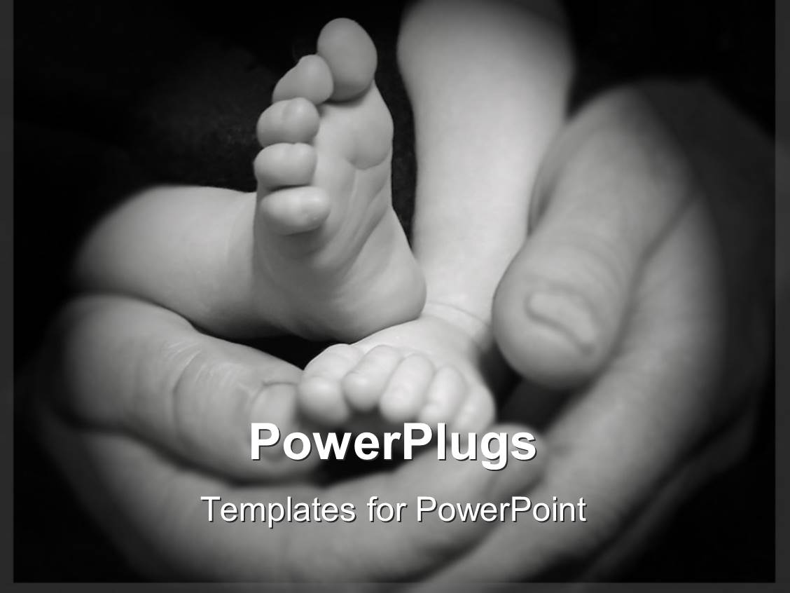 Top mother baby powerpoint templates backgrounds slides and ppt elegant presentation design enhanced with a mother holding the baby feet in her hands toneelgroepblik Image collections