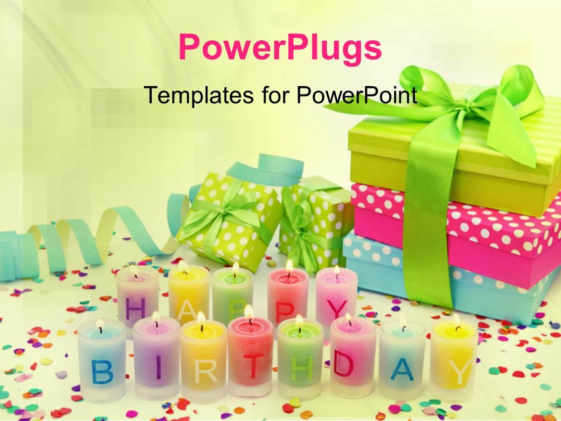 5000 Happy Birthday Powerpoint Templates W Happy Birthday Themed