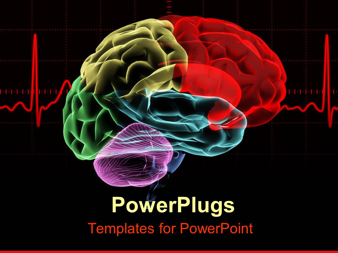 5000 psychology powerpoint templates w psychology themed backgrounds amazing ppt theme consisting of multicolored x ray human brain with a red heart rate toneelgroepblik Images