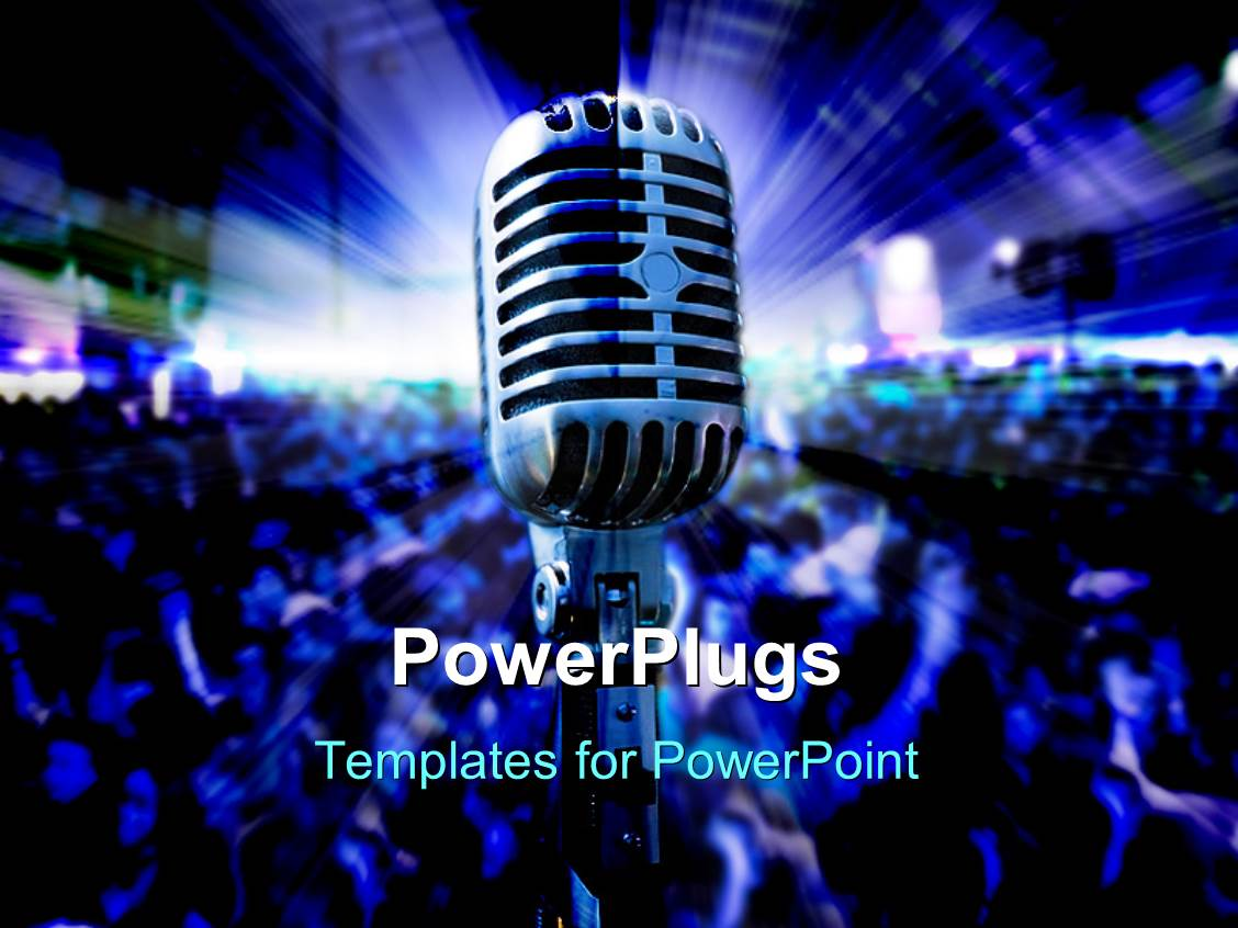 Live powerpoint templates ppt themes with live backgrounds presentation theme enhanced with musical concert with light glowing on stage and crowd dancing alramifo Gallery