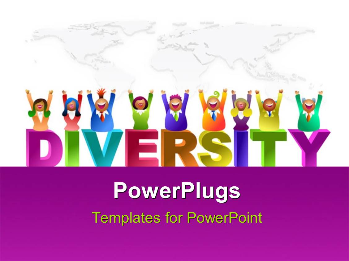Diversity powerpoint templates ppt themes with diversity backgrounds slide set consisting of a number of kids enjoying the diversity with map in the background toneelgroepblik Images