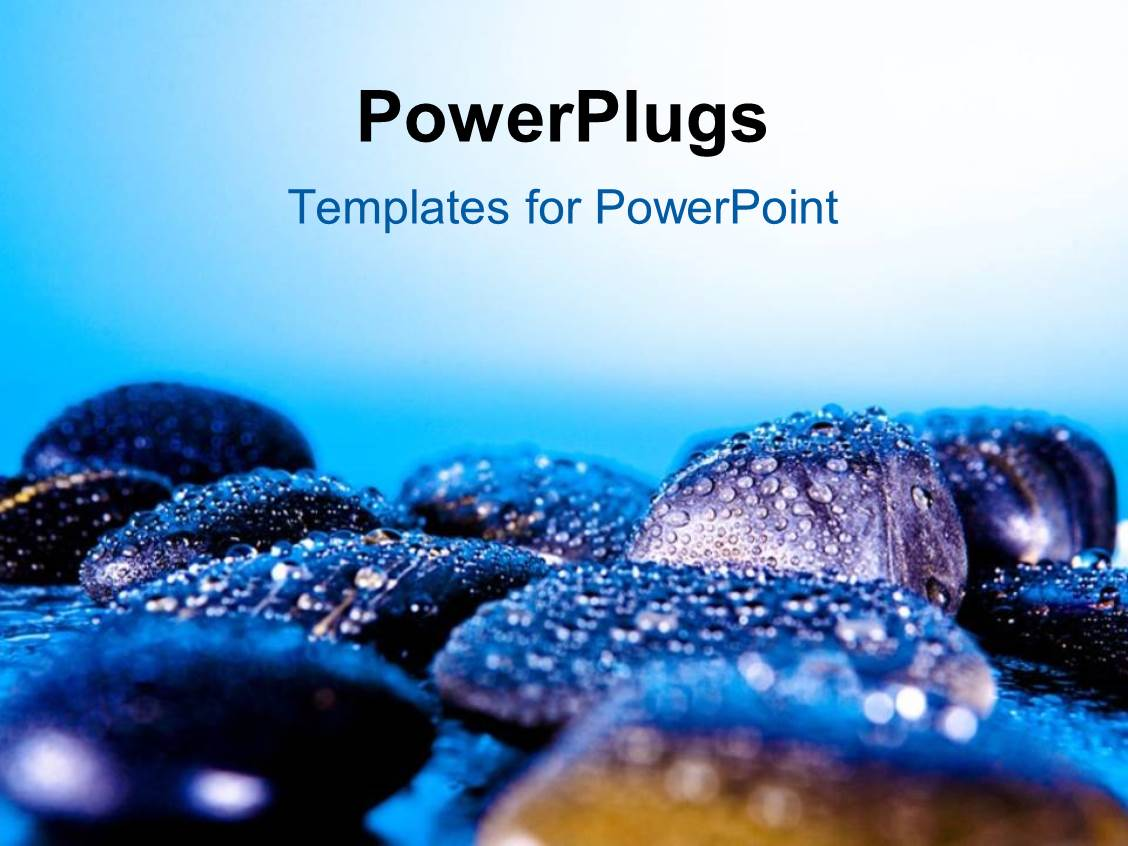 Powerpoint template a number of zen stones with bluish background powerpoint template displaying a number of zen stones with bluish background toneelgroepblik Gallery