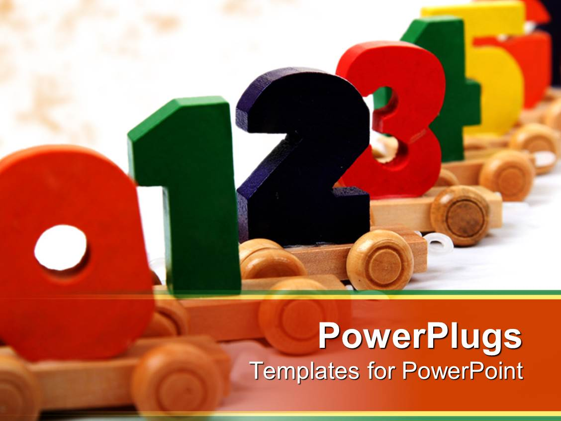 Powerpoint template a number of colors with white background 957 presentation design having numerical order k one through twelve education child development colorful numbers toneelgroepblik Gallery