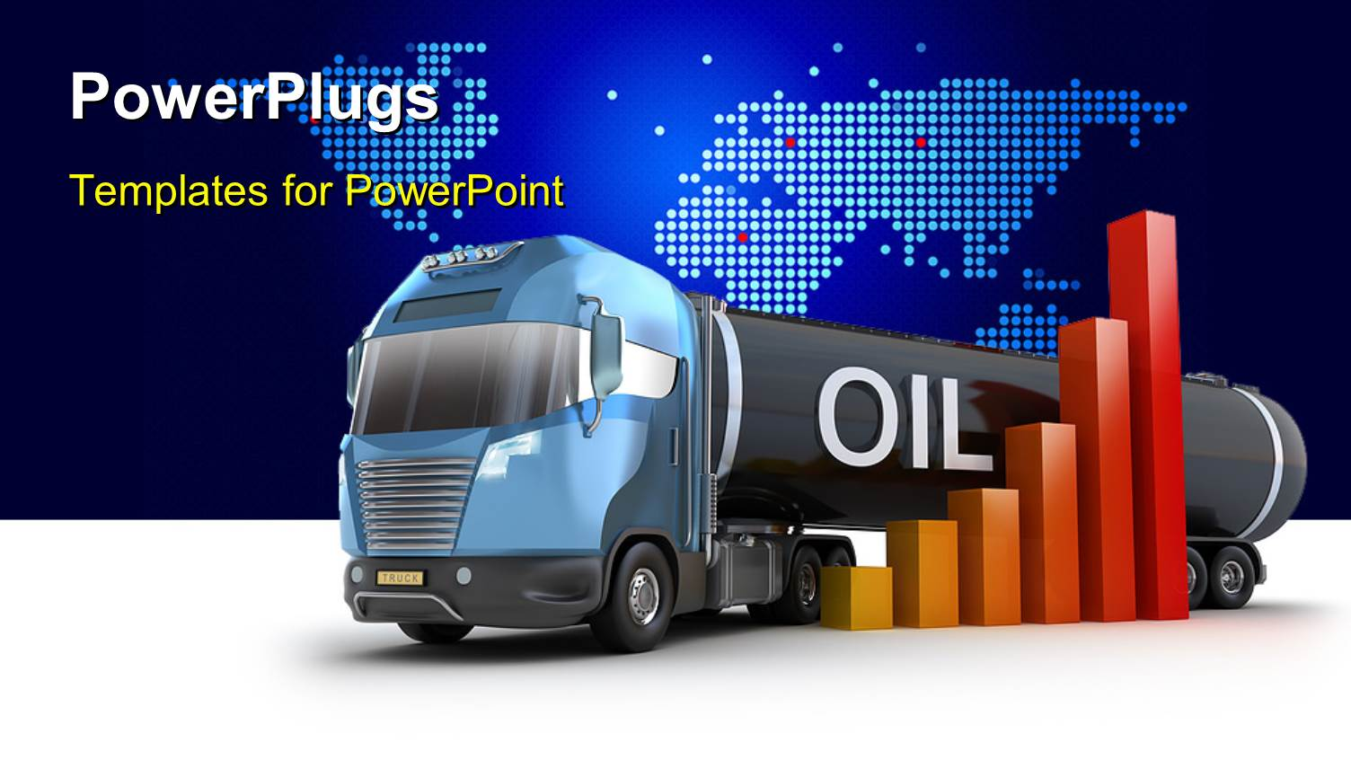 Powerpoint template oil delivery truck with bar chart over world powerpoint template displaying oil delivery truck with bar chart over world map in background toneelgroepblik Image collections