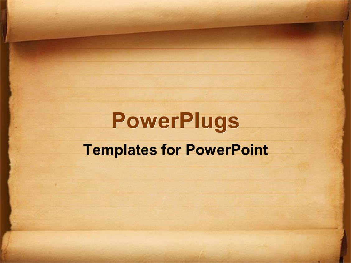 PowerPoint Template: old fashioned worn down red scroll ...