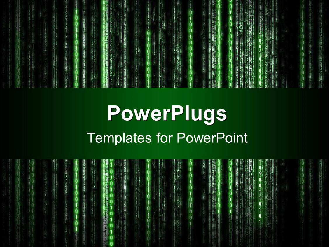 5000 matrix powerpoint templates w matrix themed backgrounds beautiful ppt theme with old style computer display with green characters on black background template size toneelgroepblik Choice Image