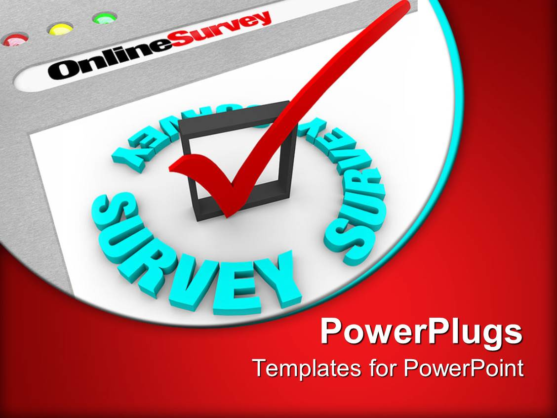 Survey powerpoint templates ppt themes with survey backgrounds slides enhanced with the online survey and the check mark to gather information alramifo Image collections